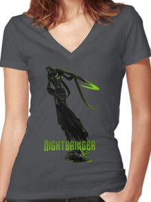 Nightbringer Women's Fitted V-Neck T-Shirt