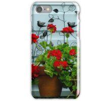 Big Red Geranium iPhone Case/Skin