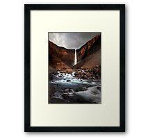 Hengifoss Framed Print