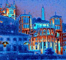 St. Jean Cathedral & Basilica Notre-Dame de Fourvière, Lyon, France by vadim19