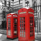 London Red Telephone Box by MyLondonArt