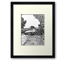 The road at Torrey Pines Reverve. Drawing Picture Framed Print