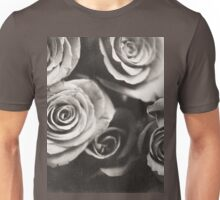 Medium format analog black and white photo of white rose flowers Unisex T-Shirt