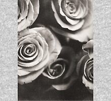 Medium format analog black and white photo of white rose flowers T-Shirt