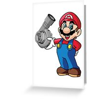 Mario Turbo Greeting Card