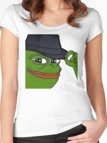 pepe fedora Women's Fitted Scoop T-Shirt
