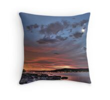 Smiley Face Conjunction over Brisbane Water Throw Pillow