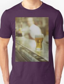 Glass of beer in Spanish tapas bar square Hasselblad medium format  c41 color film analogue photograph T-Shirt