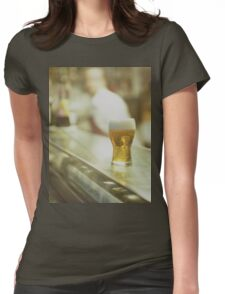 Glass of beer in Spanish tapas bar square Hasselblad medium format  c41 color film analogue photograph Womens Fitted T-Shirt