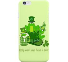 Funny St Patrick's day frogs, shamrocks, beer & text iPhone Case/Skin