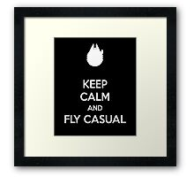 keep calm and fly casual  Framed Print