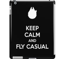 keep calm and fly casual  iPad Case/Skin