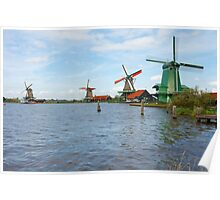 Four Windmills Poster