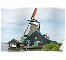Windmill on Water Poster