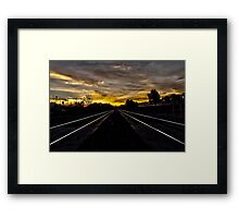 Sunrise by the Railroad Framed Print