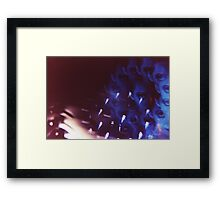 Swirls in Dark - analog 35mm color film photo Framed Print