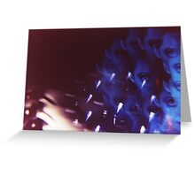 Swirls in Dark - analog 35mm color film photo Greeting Card