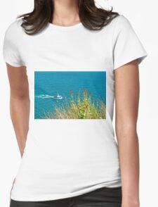 On The Edge, Devon, England Womens Fitted T-Shirt