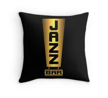 Jazz bar Gold Throw Pillow