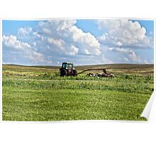 Vehicle On A Farm Poster