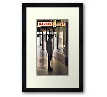 Barber Appointment Framed Print