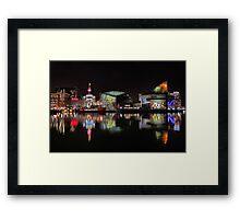 Inner Harbor in Baltimore, Maryland at Night Framed Print