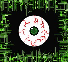Robotic Matrix Code Eye by sevendirections