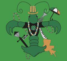 St. Patrick's Day Crawfish Fleur de Lis by StudioBlack