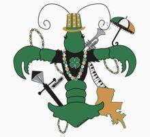 St. Patrick's Day Crawfish Fleur de Lis One Piece - Long Sleeve