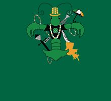 St. Patrick's Day Crawfish Fleur de Lis Womens Fitted T-Shirt
