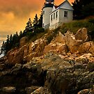 Bass Harbor Head Light- Acadia National Park, Maine by Kathy Weaver