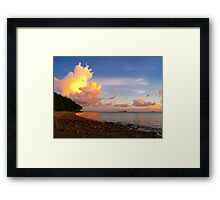 Darwin Shore Sunset Framed Print