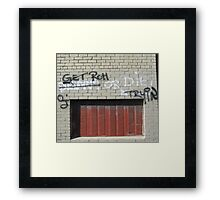 Get rich or die trying Framed Print