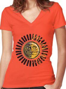 sunny daze Women's Fitted V-Neck T-Shirt