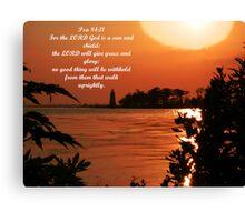 Psalm 84:11 Canvas Print