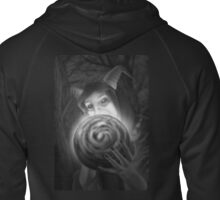 The Goat That Knows (Black and White Alternate Version) Zipped Hoodie