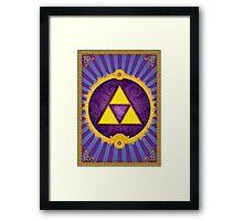 Arabesque Triforce Framed Print