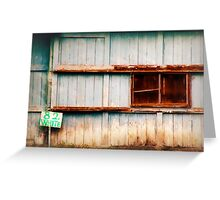 Weathered  Barn Greeting Card