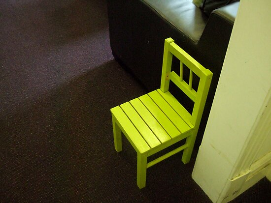 Little yellow chair by Jacqui by SacredHeart