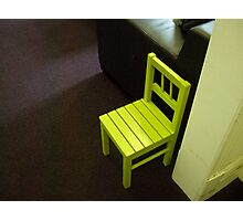 Little yellow chair by Jacqui Photographic Print