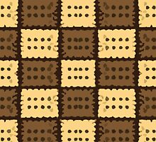 Beautiful Cushions/ Pattern Brown Rectangles by ozcushionstoo