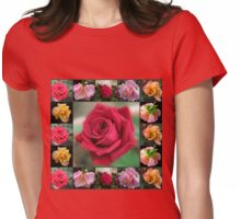 Dreamy Roses Collage Womens Fitted T-Shirt