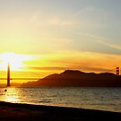 Golden Gate Sunset by flyfish70