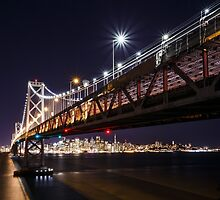 SF Bay Bridge at Night by heyengel