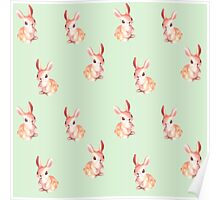 Bunny Scattered on Iced Green Tea Poster