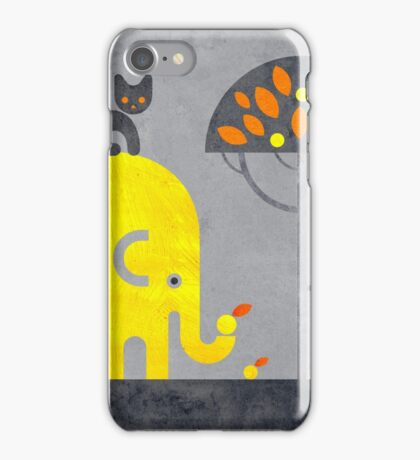 Elephant and Cat iPhone Case/Skin