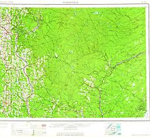 Maine USGS Historical Map Woodstock 461040 1963 250000 by wetdryvac