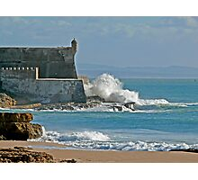 Wave on the fortress Photographic Print