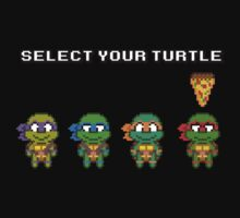 Select Your Turtle (Raphael) - TMNT Pixel Art by geekmythology