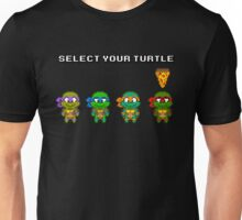 Select Your Turtle (Raphael) - TMNT Pixel Art Unisex T-Shirt